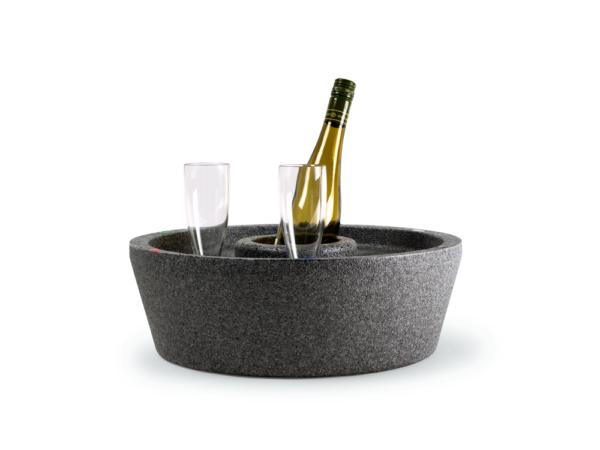 Flytande drinkbricka hård modell grå