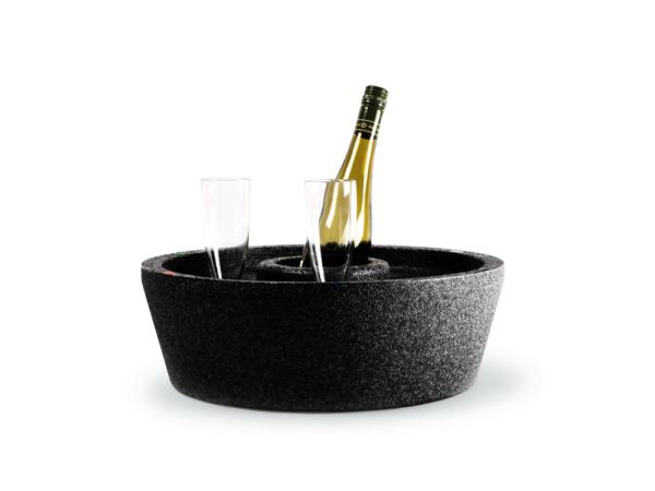 Flytande drinkbricka hård modell svart