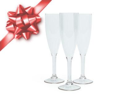Champagneglas plast Viskan julklappstips okrossbar
