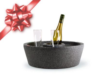 Flytande drinkbricka hård modell grå julklappstips Miami Pool Spabad spabar bar