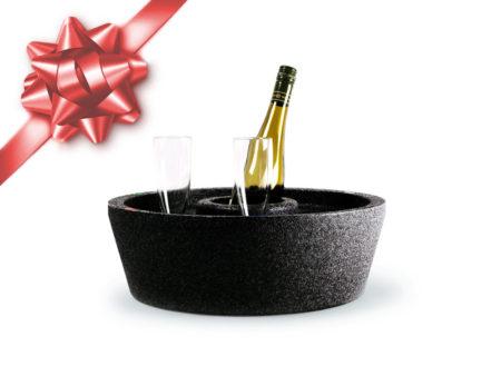 flytande drinkbricka hård modell svart julklappstips miami pool spa