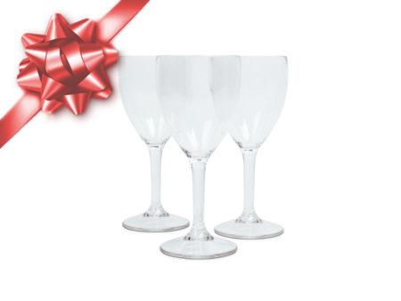 vinglas plast Viskan spa julklappstips okrossbara glas