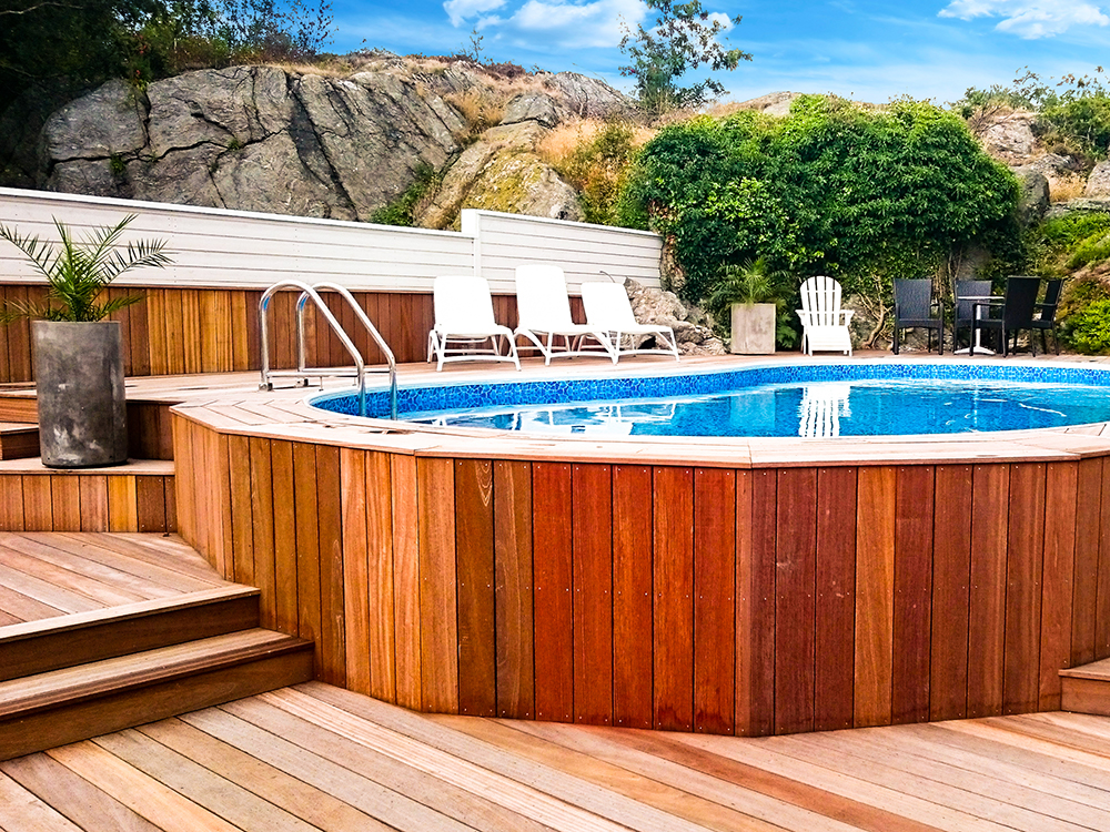 bygga pool i sluttning