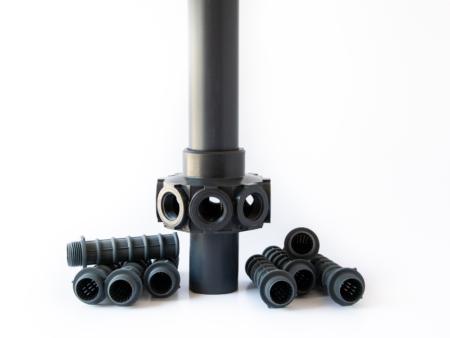 Komplett stigarrör med dysor för filter 400 mm