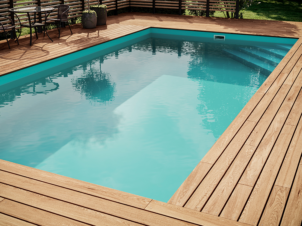 rengöra pool liner