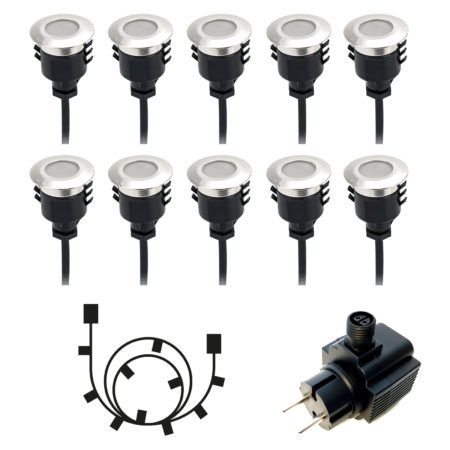 Spectrum decklights 10-pack inkl transformator och grenkabel